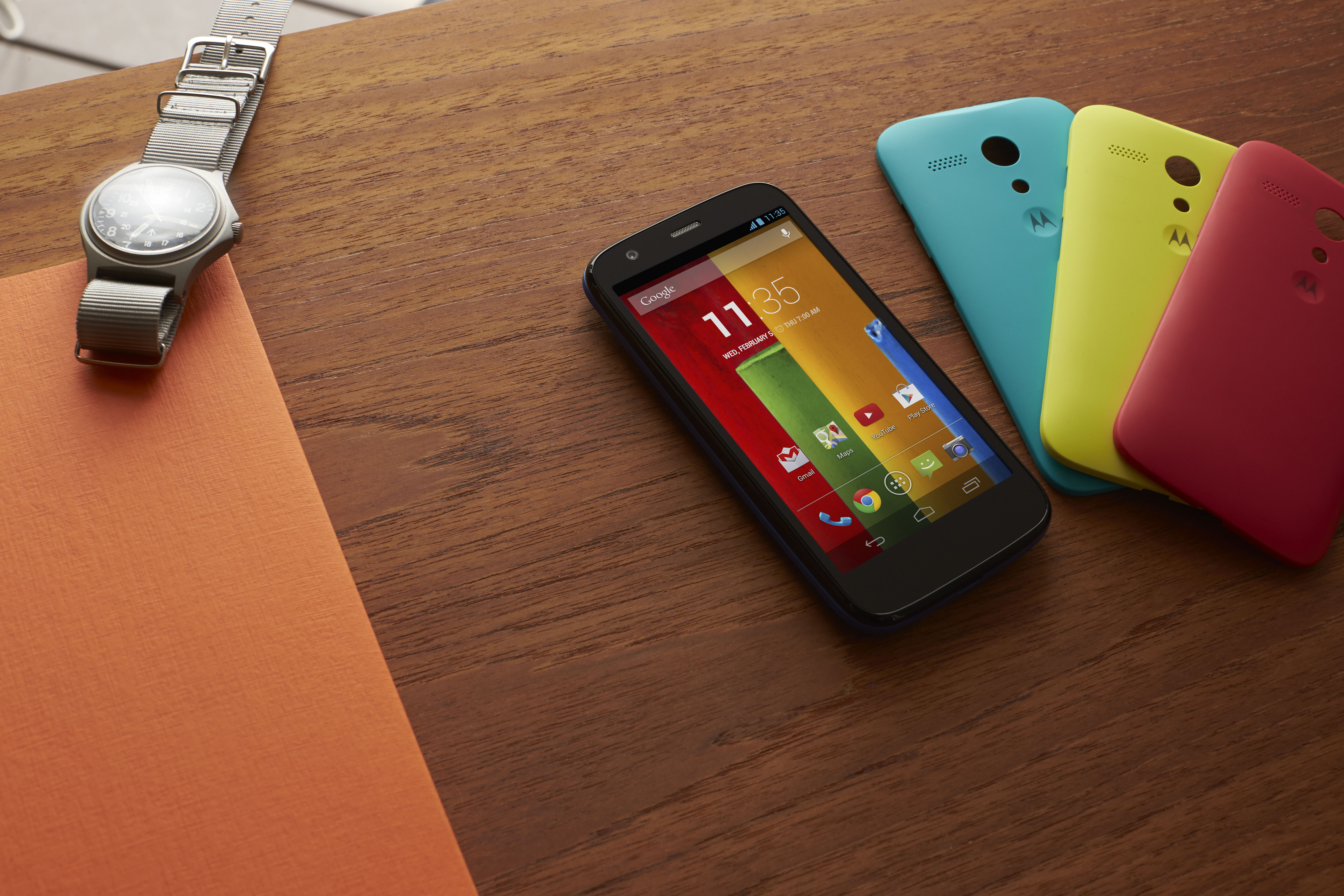 an image of the first generation of moto g.